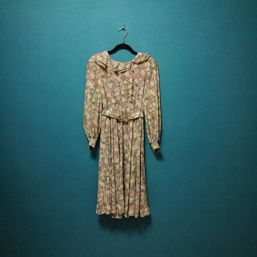 Lin 檎 dream / classical garden romantic lapel vintage dress vintage