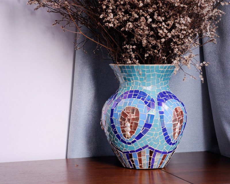 涟漪Original homemade handmade mosaic flower new home decoration gift