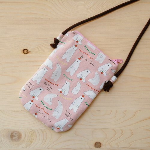 Apple polar bear phone bag _ powder