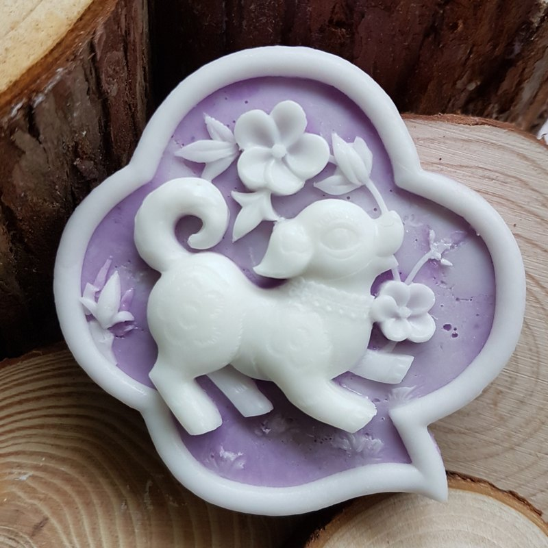 Oriental Zodiac - Dog, Handmade Soap Scented with Jo Malone Pear and Freesia