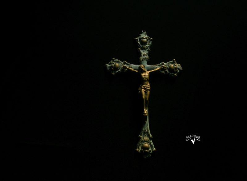 [OLD TIME] Early European Bronze Jesus Cross Ornaments