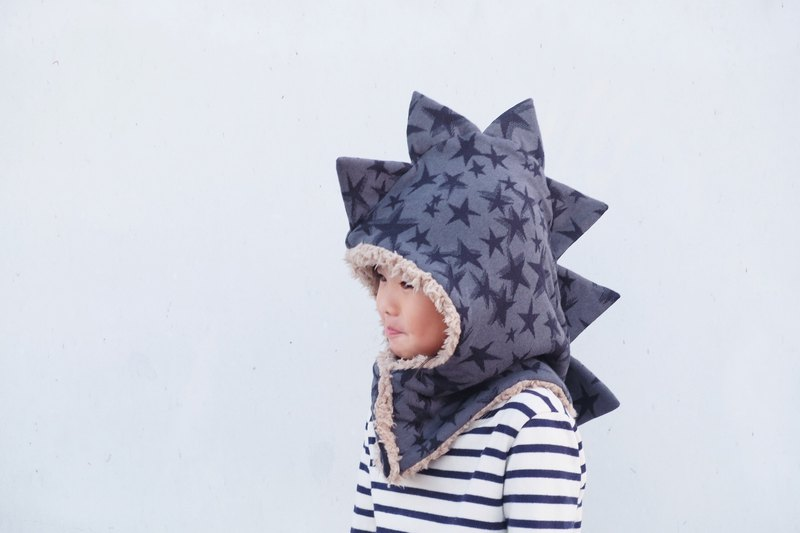 Bad temper dinosaur cap - night stars