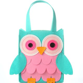 Fairy Land [Material Bag] Owl Tote Bag - Green
