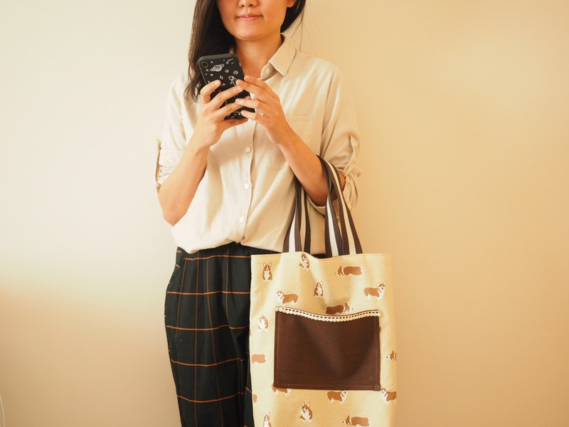 Handmade Resersible shoulder bag handbag canvas bag shopping bag