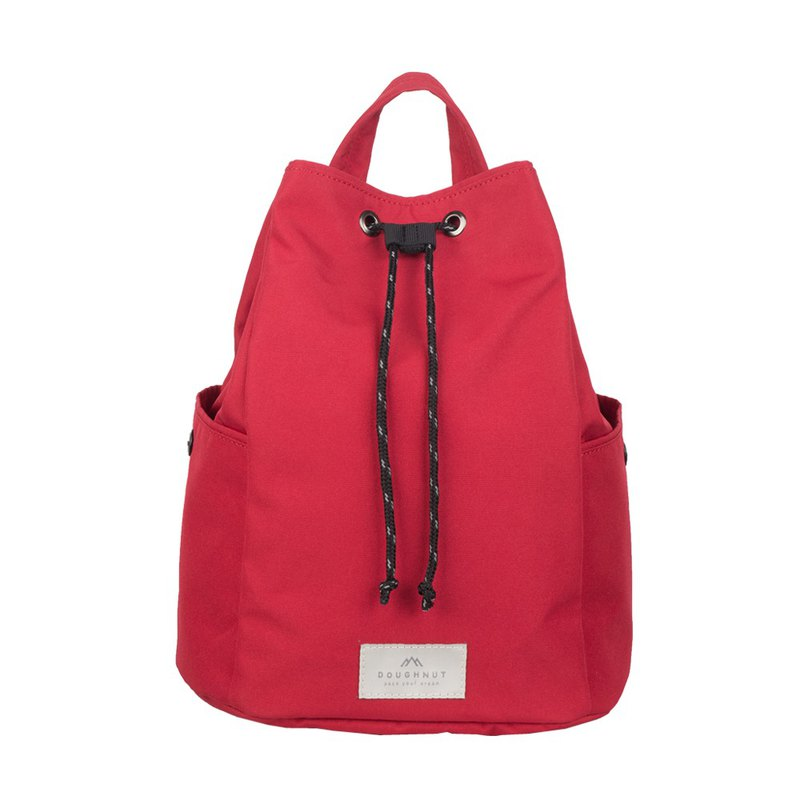Doughnut bucket dual-use backpack - red