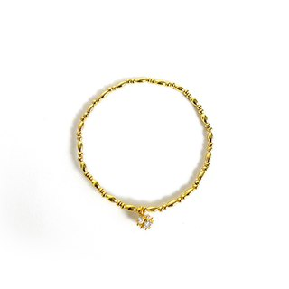 Ficelle | Handmade Brass Natural Stone Bracelet | [Guardian] Bright Gentle - Bracelet
