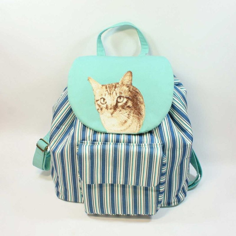 Embroidery Backpack 01- cat