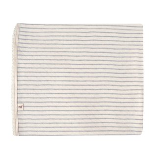 [SISSO organic cotton] gray rice large striped double weaving multi-purpose blanket