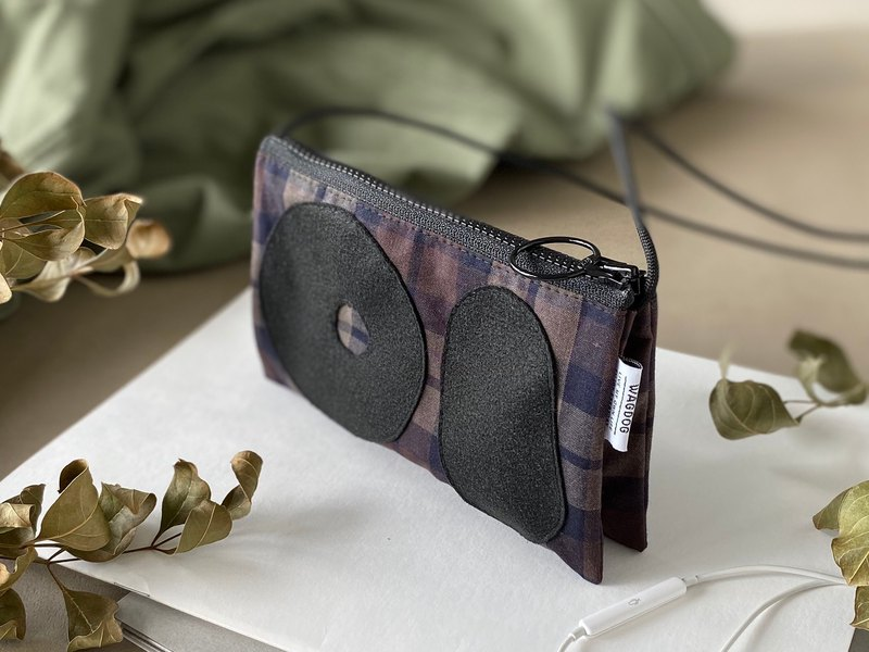 3 storage patchwork / mini wallet gray check