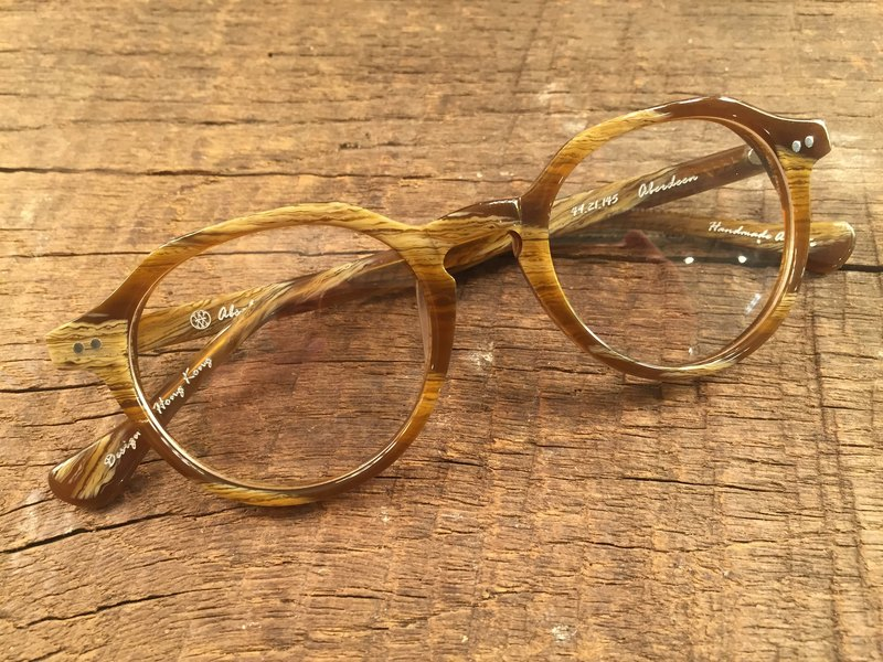 Absolute Vintage - Aberdeen Street Dupont Street Retro Pear Board Frame Glasses - Light Brown in Brown