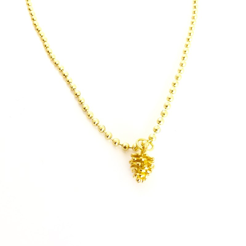 Golden pine nut necklace