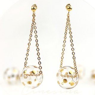 DINGDING GOLD DOTS - Gold-paint polka dots bubbles earrings
