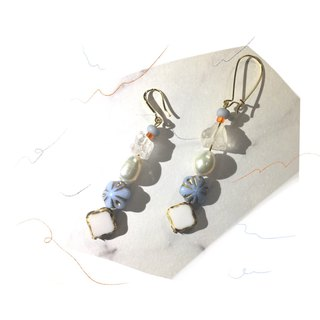 Magic Stone String Earrings - Pearl