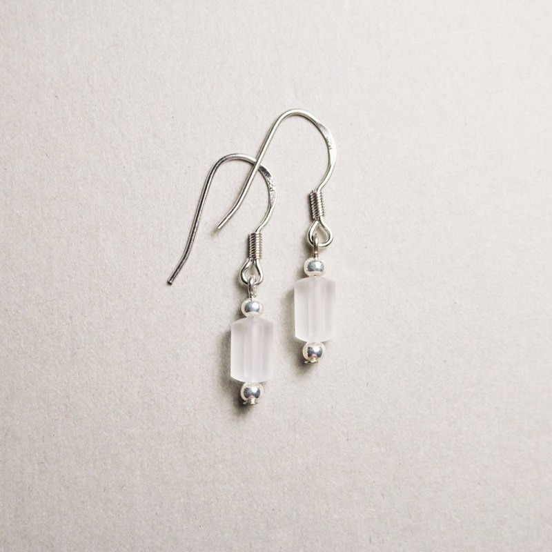 // ghost fog 925 sterling silver Swarovski earrings fog // ve019