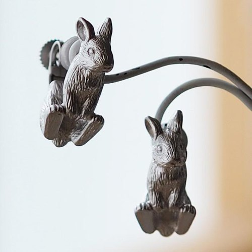 Usagi Earrings Netherland Dwarf (Silver)