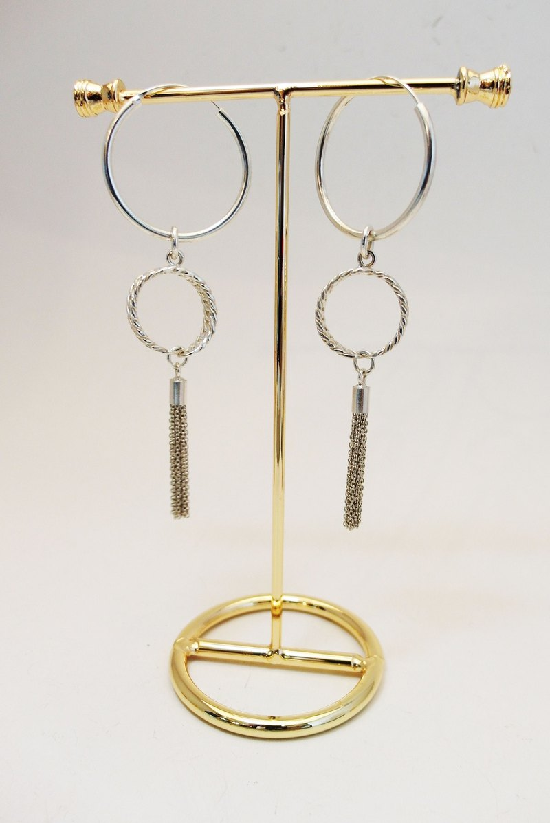 zo.craft double loop Earrings / 925 Silver