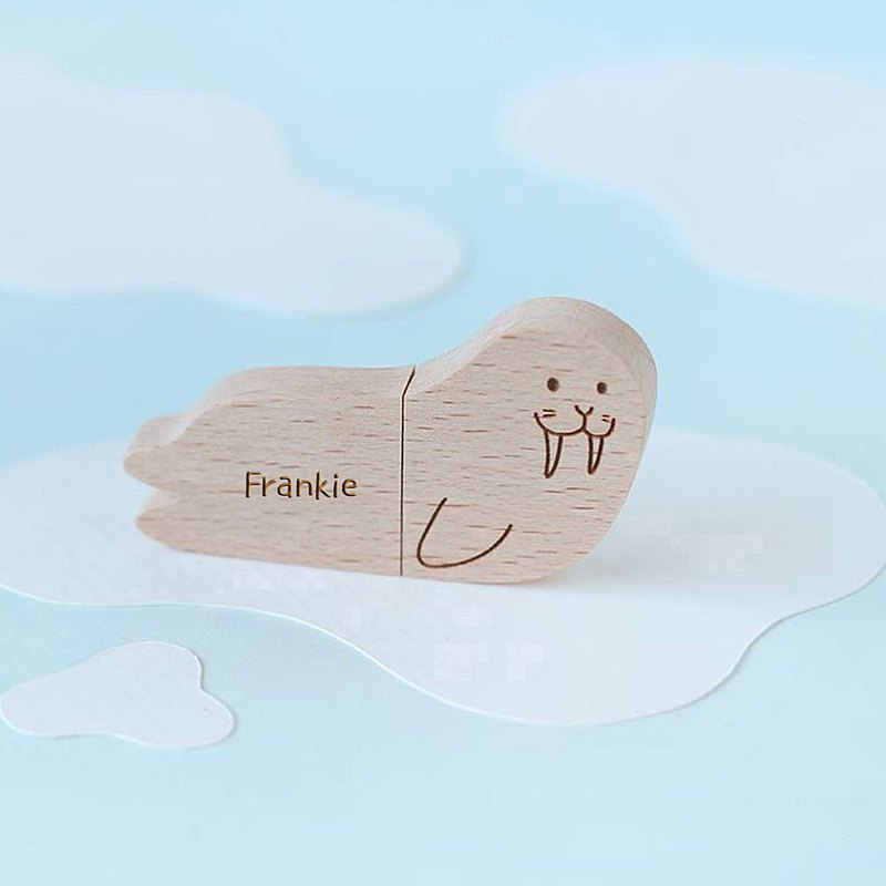CUSTOMIZABLE Wooden Animal USB Flash drive - Warrus