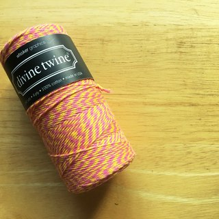 US imports Divine Twine double color cotton thread 【Rasberrylemon】