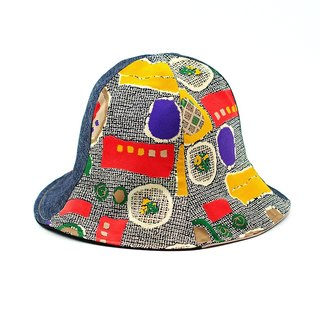 Calf Village Calf Village Handmade Double-sided Hat Customized Sunshade Retro Striped Colors Tab {My Palette} [H313] Exclusive No Hats