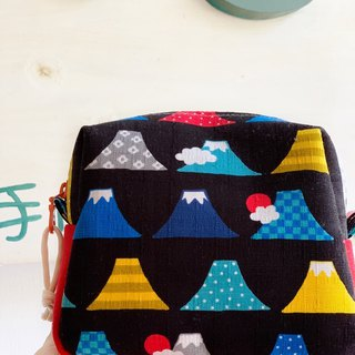 [Good day hand made] Handmade. Fuji mountain fat pack. Storage bag. Cosmetic bag