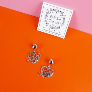 BB love diamond pieces earrings