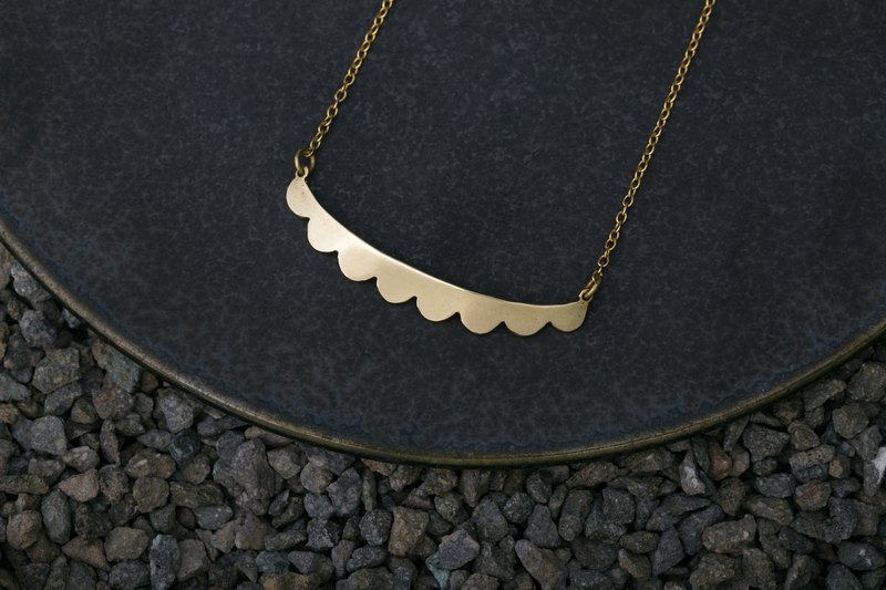 Misstache N.8 Miss Beard Number Eight Handmade Brass Necklace Brass Necklace