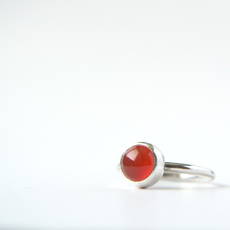 Chalcedony (custom) sterling silver ring Carnelian silver ring