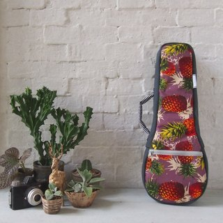 Soprano ukulele case - The purple pineapple. (Ready to ship)