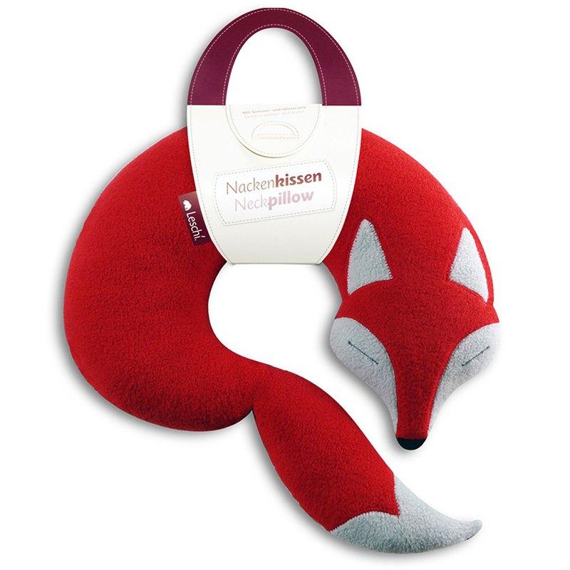 旅行枕頭/辦公室、教室午休枕頭-狐狸造型(橘紅色)