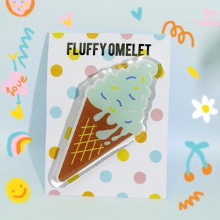 MINT ICE CREAM BROOCH