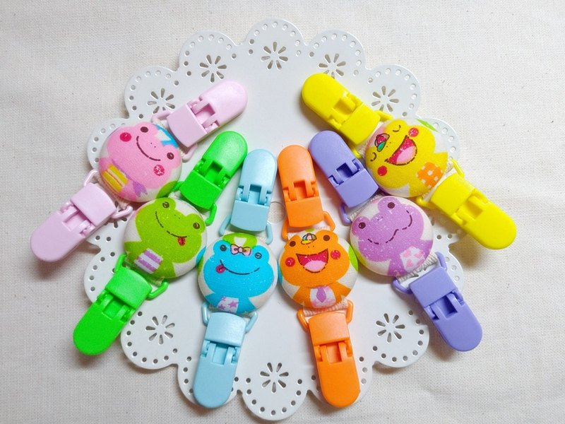 I am a small frog universal folder / handkerchief folder / toy clip / cart clip / peace clip