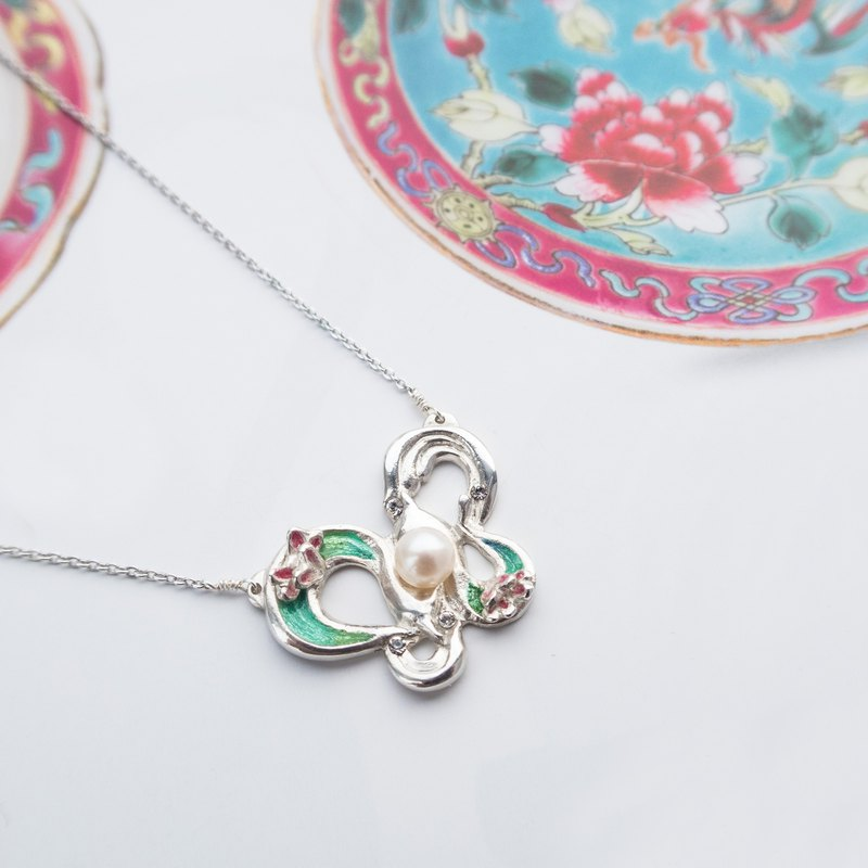 Heart of Respect | 925 Silver Necklace with Ceramic Jewelry Box