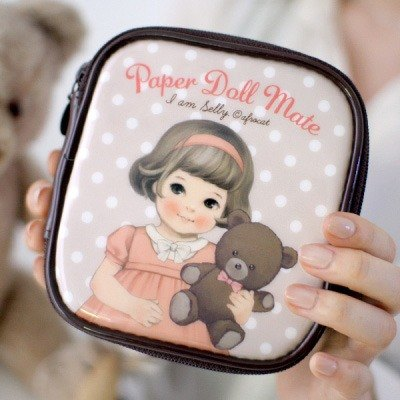 【Afrocat】 Sally 化妝包 方形 防水 make-up pouch small