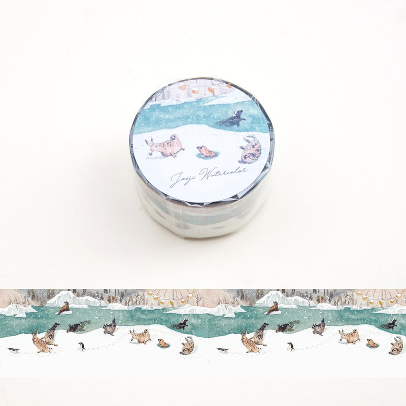 Little Seals | Handmade Watercolor | Washi Tape | Sticker | Masking Tape