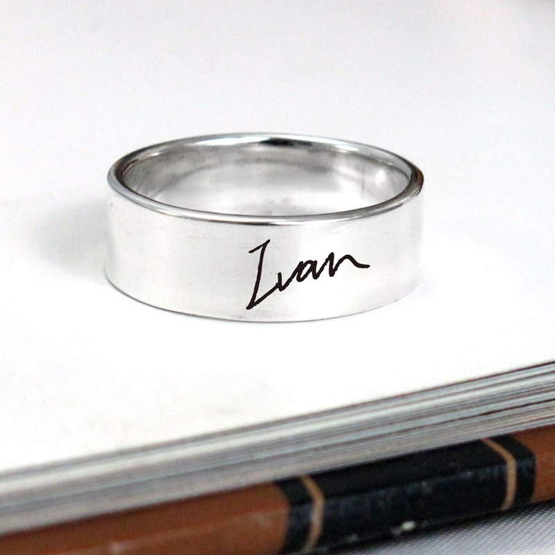 Custom Ring Signature Signature Men's 925 Sterling Silver Ring