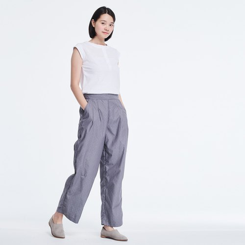 Jacob Wide Leg Pockets Crop Pants Grey