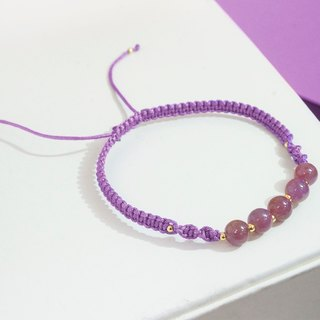 Edith & Jaz • Ruby with Purple Cord Bracelet