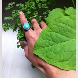 Handmade silver ring Amazon amazonite