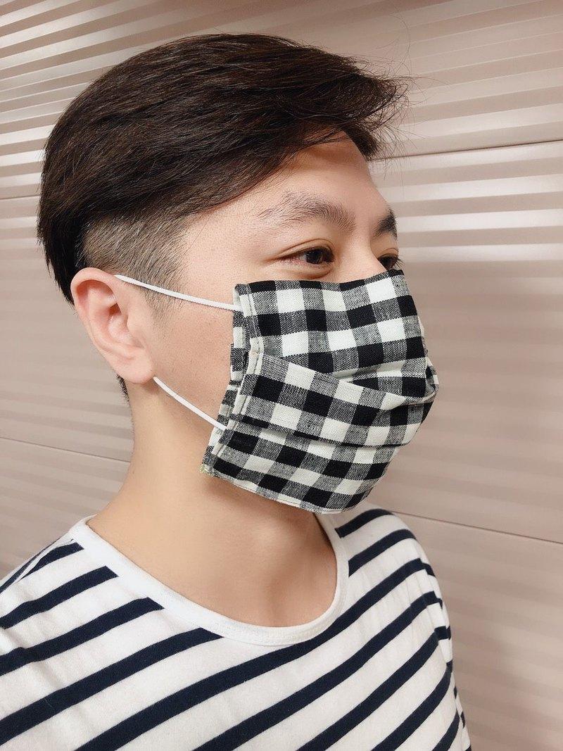 口罩套-方格 潑水& 防霉抗菌