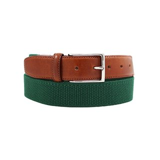 LAPELI │ Belgian elastic fabric belt - plain little green