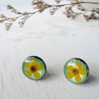 Real flowers earrings