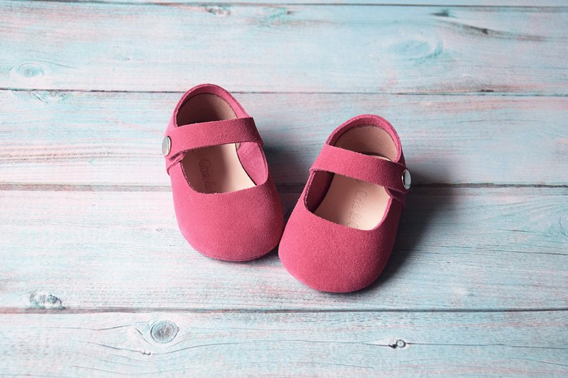 Baby Girl Shoes, Baby Moccasins, Hot Pink Leather Mary Jane Shoes, Baby Shower