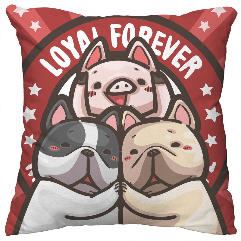 One God Method Fighting Pigu Series Pillow [Pig Peng Dog Friends]