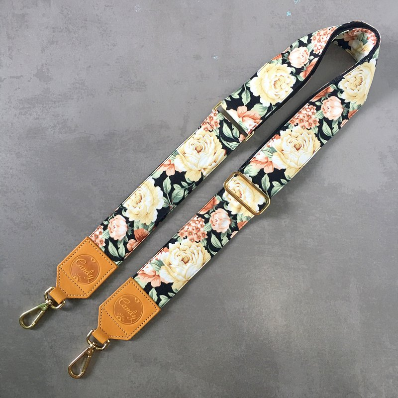 Tan Genuine Leather  Bag Strap
