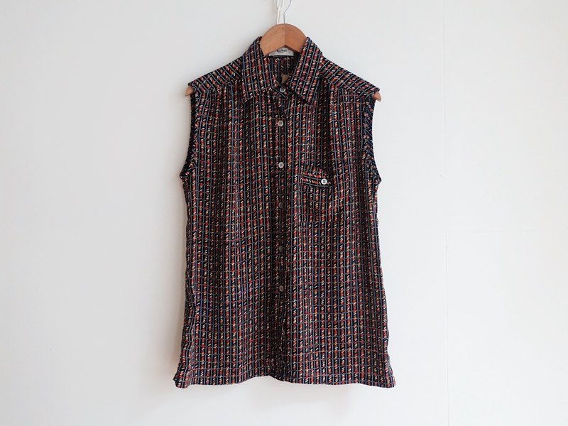 Vintage / Shirt / Hand Sleeveless no.153