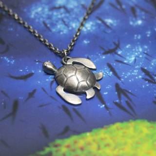 Sterling Silver Necklace / Turtle