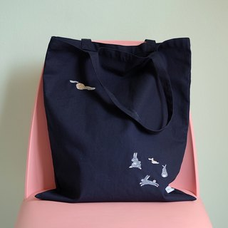 Rabbit Moon Tote Bag