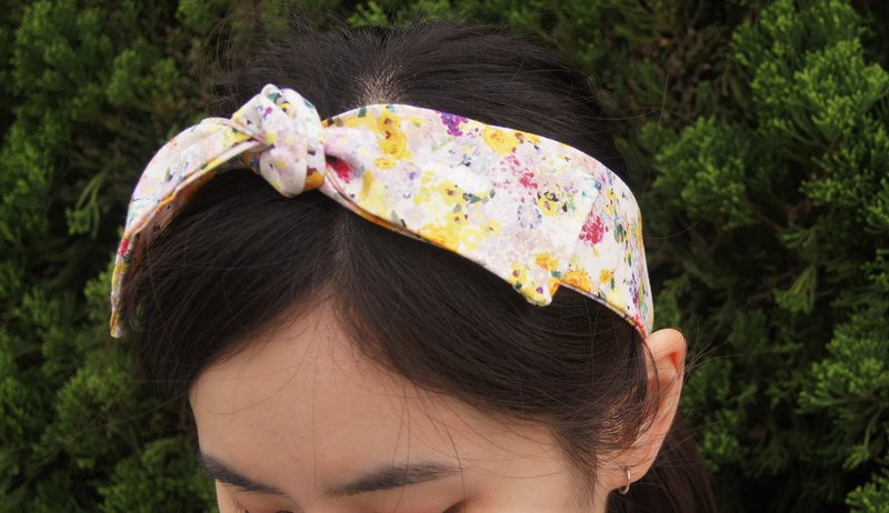 Monet Garden l Limited l bow tie tied tie hair band