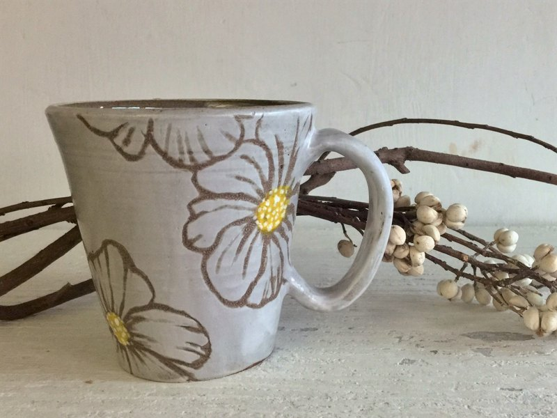 Iceberg Gray Poppy Coffee Cup_Crockery Mug