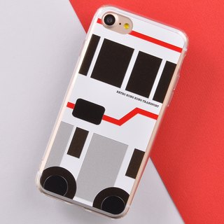 Hong Kong Retro Means of Transports iPhone X Phone Case Air-conditioned Bus
